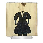 Miniature Portrait Of Charles Shower Curtain