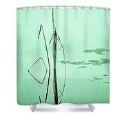 Minimal Grass Shower Curtain