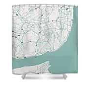 Minimalist Artistic Map Of Lisbon, Portugal 3 Shower Curtain