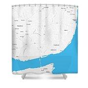 Minimalist Artistic Map Of Lisbon, Portugal 4a Shower Curtain