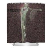 Minimalist Christ Shower Curtain