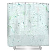 Minimalist Modern Map Of Beijing, China 3 Shower Curtain