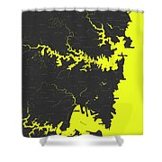 Minimalist Modern Map Of Sydney, Australia 8 Shower Curtain by Celestial Images