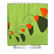 Minimalist Modern Mobile Shower Curtain