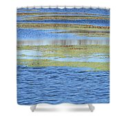 Brazos Bend Wetland Abstract Shower Curtain