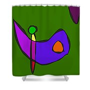 Minimalistic Expressionism Shower Curtain