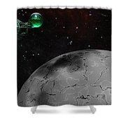 Mining Operation Deep Space Shower Curtain