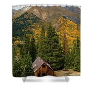 Mining Shack Shower Curtain