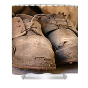 Mining Shoes  Langban Sweden Shower Curtain