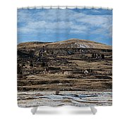 Mining Town Panorama Shower Curtain