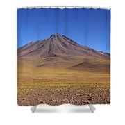 Miniques Volcano And High Altitude Desert Chile Shower Curtain