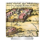 Minisink Village, 1650s Shower Curtain