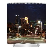 Minneapolis From The Stone Arch Bridge Shower Curtain