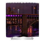 Minneapolis In Purple 4 - Wide Crop Shower Curtain