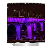 Minneapolis In Purple 6 Shower Curtain