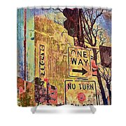Minneapolis Uptown Energy Shower Curtain by Susan Stone