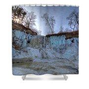 Minnehaha Falls Minneapolis Minnesota Winter Morning Shower Curtain
