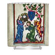 Minnesinger, 14th Century Shower Curtain by Granger