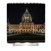 Minnesota Capital At Night Shower Curtain