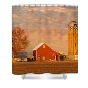 Minnesota Farm At Sunset Shower Curtain