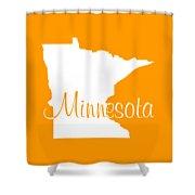 Minnesota In White Shower Curtain