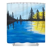 Minnesota Lakes Shower Curtain
