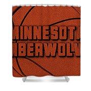 Minnesota Timberwolves Leather Art Shower Curtain