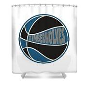 Minnesota Timberwolves Retro Shirt Shower Curtain