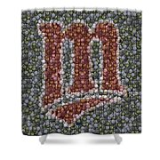 Minnesota Twins Baseball Mosaic Shower Curtain