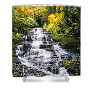 Minnihaha Falls In Autumn Shower Curtain