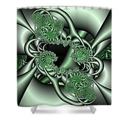 Mint3 Shower Curtain