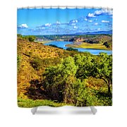 Mira River Shower Curtain