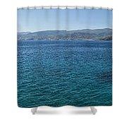 Mirabello Bay Panorama Shower Curtain