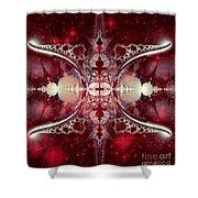 Mirror Gateway / Crop / Red Stars Shower Curtain
