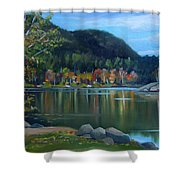 Mirror Lake In Woodstock New Hampshire Shower Curtain
