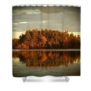 Mirror Lake Image Of Fall Shower Curtain