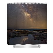 Mirror Reflections Panorama Shower Curtain