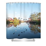 Mirrored Formation Shower Curtain