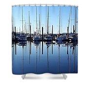 Mirrored Masts  Shower Curtain