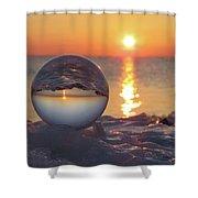 Mirrored Sunrise Shower Curtain