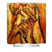 Mirrors Of Movement - Tile Shower Curtain