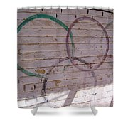 Miscolored Olympic Rings Shower Curtain