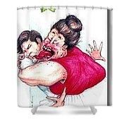 Misletoe Shower Curtain