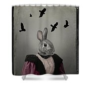 Miss Bunny And Crows Shower Curtain