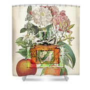 Miss Dior Notes 1 - By Diana Van Shower Curtain