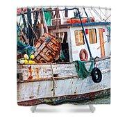 Miss Hale Shrimp Boat - Side Shower Curtain