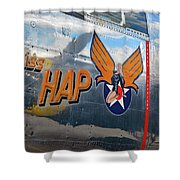 Miss Hap Shower Curtain