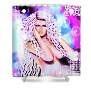Miss Inter-dimensional 2089 Shower Curtain