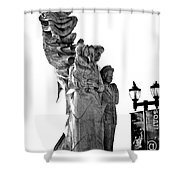 Miss Liberty And The Immigrant Family Shower Curtain