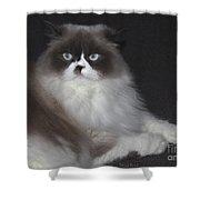 Miss Lillie The Kitty Shower Curtain